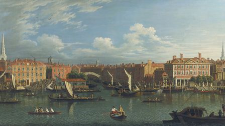 Entrance to the Fleet Canal: the truth was a little less pleasant than this painting suggests, thank
