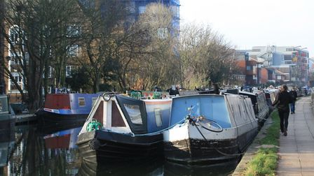"""London's canals: moving """"gently but steadily towards gridlock"""" (photo: Martin Ludgate)"""