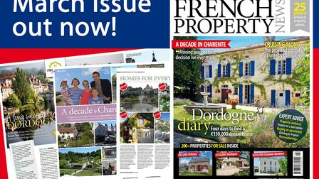The March 2018 issue of French Property News is on sale now