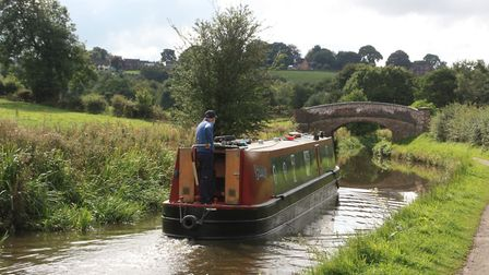 On the canal's summit level east of Endon