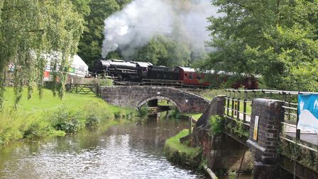 CHURNET VALLEY RAILWAY The railway which paralleled the canal down the Churnet Valley has been reviv