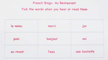 Word bingo is a great way to learn new vocabulary © Janet Myers