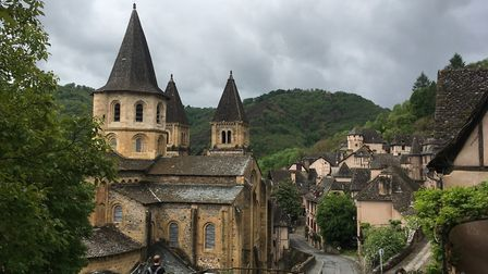Merci to our reader, Robert Reynolds for sending us this picture of Conques in Aveyron