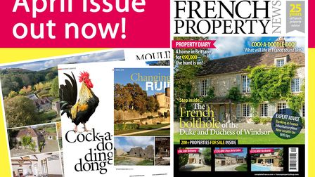 The April 2018 issue of French Property News is on sale now