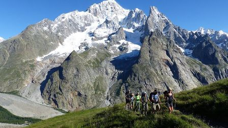 Hiking the iconic Tour du Mont Blanc trail © Hilary Sharp - Trekking in the Alps