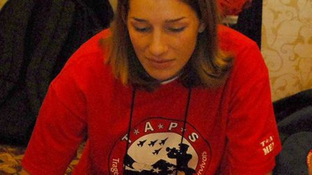 Staff Sergeant Afton Ponce pictured during her time as a mentor at the Tragedy Assistance Program fo