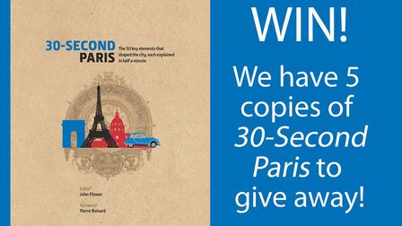 Enter our competition for your chance to win a copy of the book 30-Second Paris
