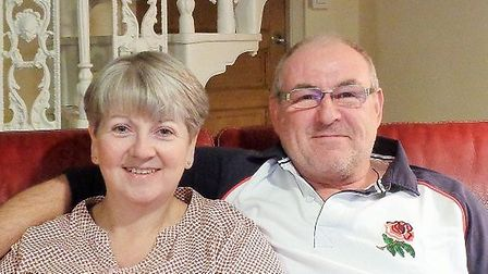 Karen Williams and her husband Andy who own a holiday cottage in Normandy