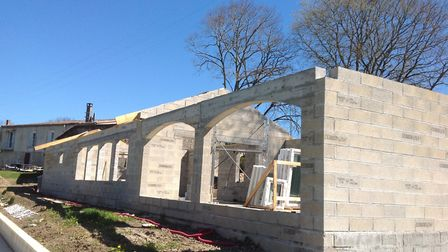 The club house at Parsons Meade bowls club being built © Parsons Meade