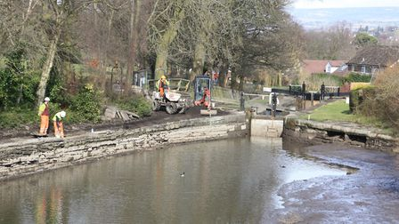 ...and relay towpath surfaces