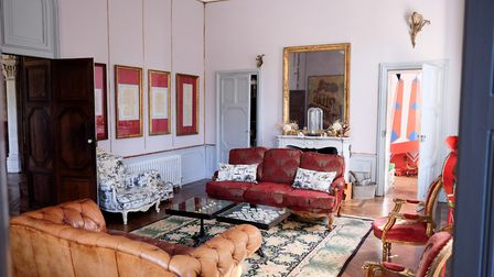 Dick and Angel's living room at Chateau de la Motte Husson