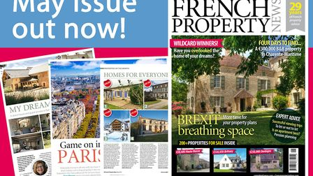 Get your copy of the May 2018 issue of French Property News