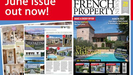 Buy the June 2018 issue of French Property News now