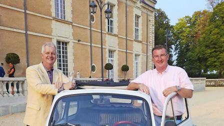 Michael Halpin and Jonathan Cooke at Château de Jalesnes in the Loire Valley