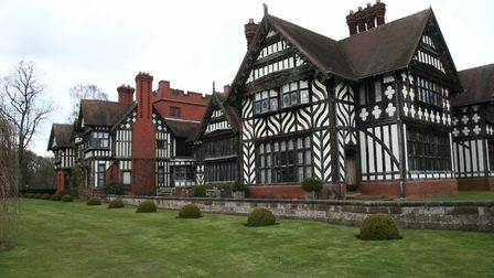 WIGHTWICK MANOR is a late Victorian house in the Old English style, decorated in William Morris desi