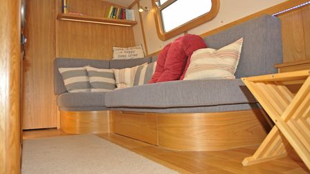 The L-shape sofa is a focal point