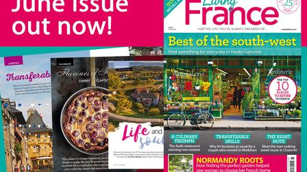The June 2018 issue of Living France is on sale now