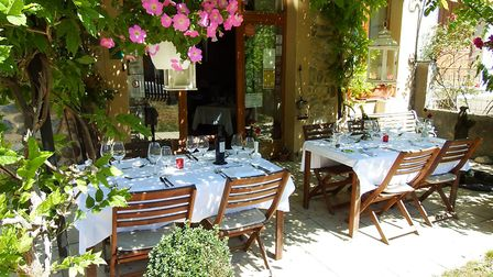 Paul and Val Bridgestock's restaurant is in the town of Axat in Aude