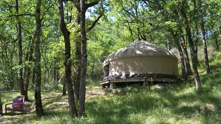 Guests can stay in woodland yurts and safari tents at Le Camp © Le Camp