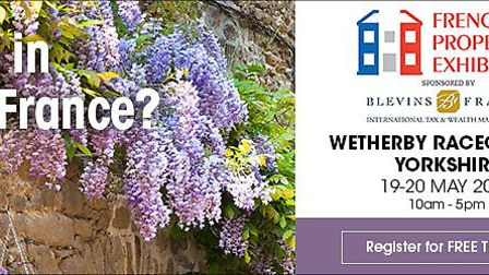Find your French home at the French Property Exhibition in Wetherby 19-20 May