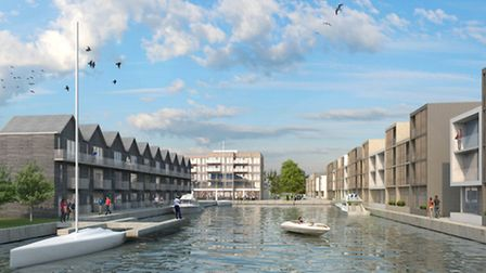 AFTER: An architects view of how the Lake Lothing waterfront may look in the development. Picture: A
