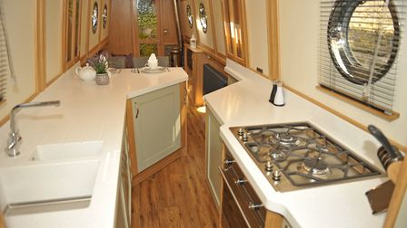 As keen cooks, Audrey and Mick wanted a spacious galley (photo: Andy R Annable)