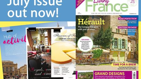 The July 2018 issue of Living France magazine is on sale now