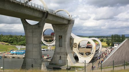 The Falkirk Wheel: crowning achievement in 2002 (photo: Martin Ludgate)