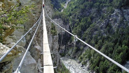 The longest suspension bridge on a route in France (c) Andy Hodges
