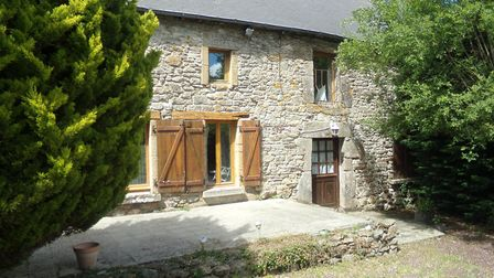 Semi-detatched, three-bed house in Meneac for sale for 84,500 with A House in Brittany