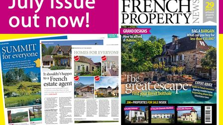 The July 2018 issue of French Property News is now on sale