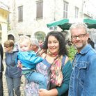 Natalie Lynch and Peter Quaife, pictured with their son Sam, run vegetarian, vegan and cycling holid