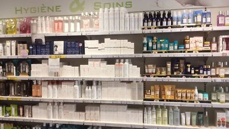 Beauty and natural remedies in a French pharmacy
