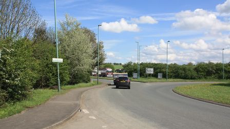 Two new bridges will take the canal under the A38 roundabout (photo: Martin Ludgate)