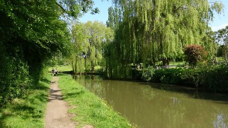 A glorious day for a canalside stroll so it's not all bad