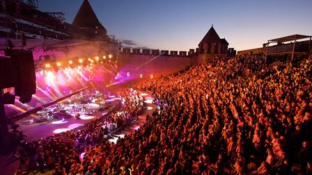 There are hundreds of summer music festivals in France - this one in Carcassonne takes place in July