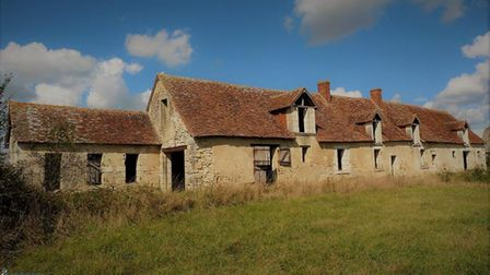 A partly restored farm in the Loire Valley