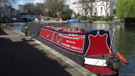 Where it begins: Little Venice, with the start of the Regents Canal to the right (photo: Derek Pratt