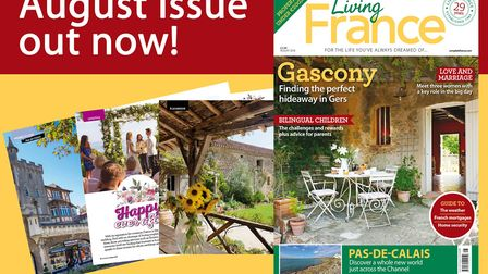 The August 2018 issue of Living France magazine is on sale now