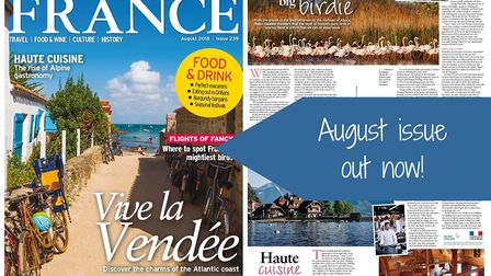 The August 2018 issue of FRANCE Magazine is now on sale