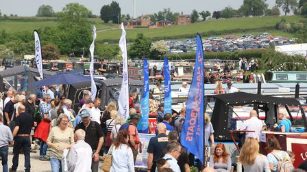 The boats on display in the marina attract plenty of attention from the show's visitors (photo: Mart