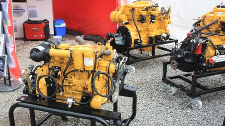 Two new Barras engines: 43hp and (behind) 135hp (photo: Martin Ludgate)