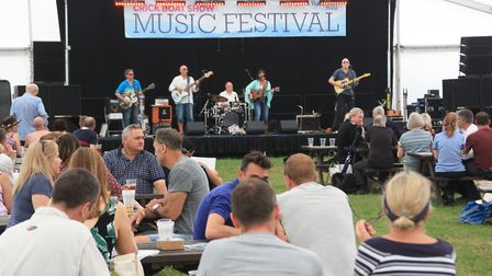 Plenty going on in the entertainments marquee (photo: Martin Ludgate)