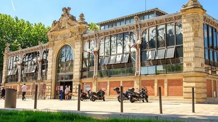 The historic Halles market in Narbonne