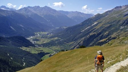 Looking dows the Maurienne valley towards Bramans from the Lac Blanc path (c) Andy Hodges