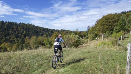 Go mountain biking in the Jura mountains, here at the Col de Charbemènes in the Jura ©will_cyclist