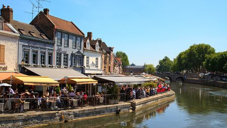 Riverside dining in Amiens © vofpalabra Getty Images