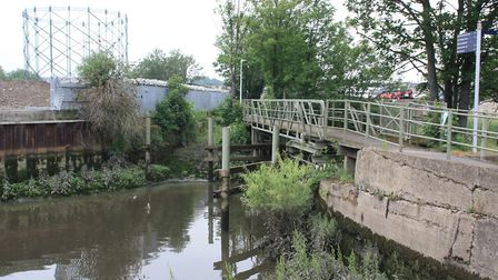 A former swingbridge carrying a footpath could be made to operate again (photo: Martin Ludgate)