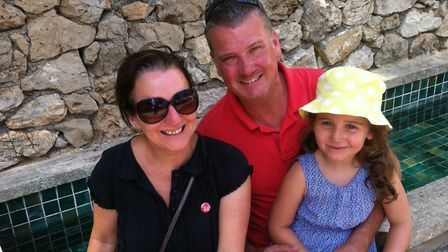 The Vickers are loving every moment spent in their holiday home in Antibes