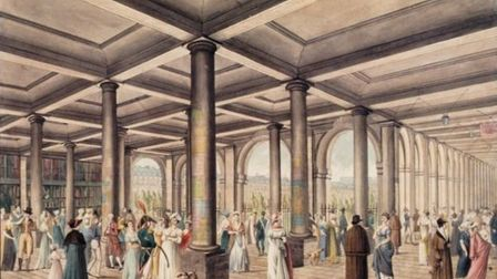 The galeries of the Palais Royal in Paris in 1800 (Unknown artist)